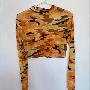2/$25 PrettyLittleThing army mesh long sleeve